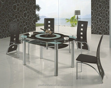 the round extendable glass dining table