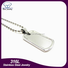 High Quality New Hotsale Custom Metal Blank Dog Tags Matte or Shiny Stainless Steel Rolled Edge army Dog Tag