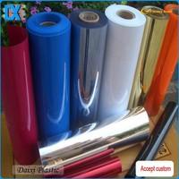 Blue plastic packing pharmaceutical pvc film