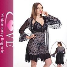 grace purple deep v-neck hot babydoll of cool design women night sleep dress