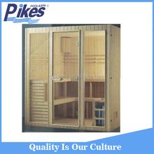 Wooden Traditional Sauna Cabin Room / Home Steam Sauna Room