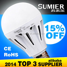Hight quality PC Milky cover 7w led bulb heat sink