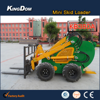 Towable mini tracked loader with pallet fork,CE mini pallet fork loader on sale