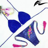 2015 bikini push up free shipping swimsuit handmade crochet hot sale swimwear