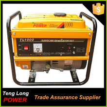china generator manufacturer ac single phase brushless 1kw gasoline generator for home use