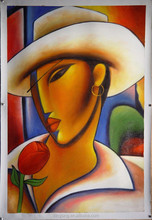 2015 african working women portrait oil painting by handmade 17709