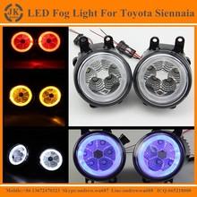 Excellent Quality Angel Eyes LED Fog Light for Toyota Sienna Factory Direct LED Fog Lamp for Toyota Sienna 2012
