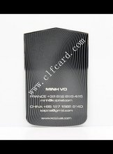 Branded newest engraved black metal business card zf