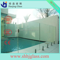 tempered glass/ curved tempered glass/ laminated tempered glass for swimming pool fence
