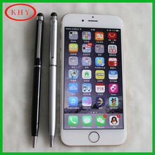 Metal Body Twin tips universal capacitive touch screen pen