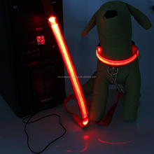 Led rechargeable leash for dog/Dog Harness/ Glowing In Dark Dog Leashes And Collars