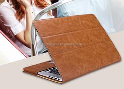 Fashion Flip folio PU Leather Case for MacBook Pro 15.4 inch Book Cover Case for Mackbook HH-MBA07-18