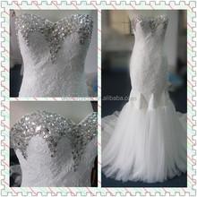 2015 Lovely Latest Design Mermaid Bride Wedding Gown /Wedding dress WBD010
