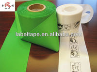 polyester satin care label material
