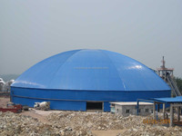 Dry coal storage steel space frame Dome Building
