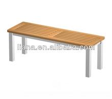 Hot sale modern outdoor furniture Aluminum teak long bench chair