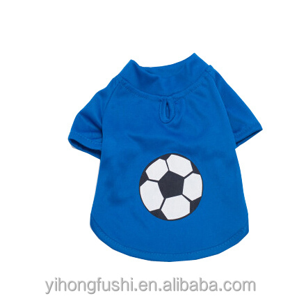 Il modello di calcio vestiti del cane per l'estate 3 colori/abbigliamento sportivo per cane