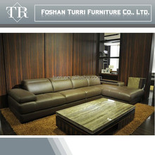 hot sale Italy modern leather corner sofa for living room