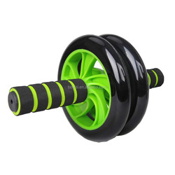 Dual equipment slider wheel ab roller abdominal exerciser