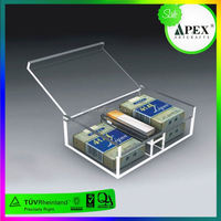 Customized Clear acrylic cigarette display case