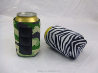Solid Color Full Color plain Magnetic Cola Can Cooler Bags