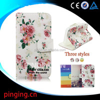 Wholesale cell phone cases color printing leather case for Iphone 5C