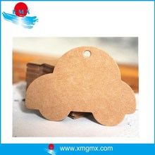 Recycled Brown Craft Paper Hang Tag with Car Shape