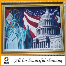 410g waterproof oil painting canvas , polyester canvas oil painting, the statue of liberty oil painting