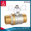 1/2 inch Brass ball valve with FXF,forged NPT full port with bonnet steel butterfly handle ,manufacture of Yuhuan OUJIA