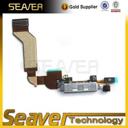 Original charger flex cable for iphone 4s, for iphone 4s charger dock flex cable