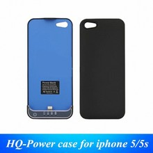 New white/black slim power bank case 2200mah emergency external backup battery for iphone 5 5s ios 7 8 9
