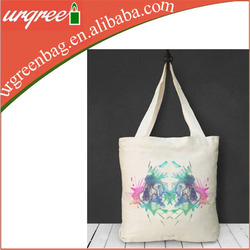 recycled canvas folding shopping bag for supermarket promotion