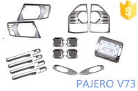 Trade assurance supplier 19 pcs/set full sets car accessories for Mitsubishi Pajero V73-full chromed kits wholesale