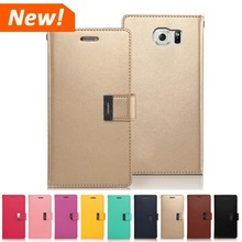 Mercury Goospery rich diary case flip wallet leather mobile cover for iPhone 4 5 6 plus and all phone models