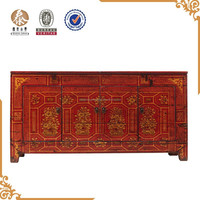 Asian Antiques Hand Painted Dongbei Cabinet