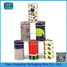 Custom&In stock Round shape portable packaging small tin box ,Round decorative mini metal gift box