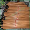 PVC Coated Wooden Broom Handle Straw for Household Cleaning