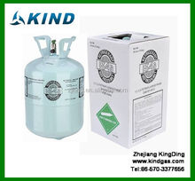 hot sell 99.9% pure 13.6kg/30lbs disposable DOT cylinder r134a refrigerant gas