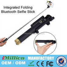 Wholesale High Quality Extendable With Remote Shutter Wireless Monopod Bluetooth Mini Selfie Stick for Moto G Iphone