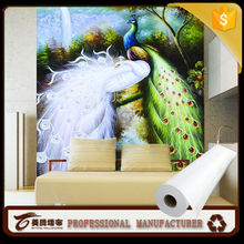 new waterproof wall covering/wallpaper /wide format wall covering polyerster material