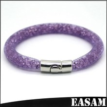 Easam 2015 fashion Shining Magnetic Buckle Purple Stardust Bracelet