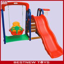 Newly plastic swing and slide set