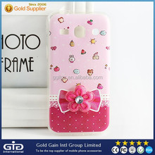 Tpu case for samsung for galaxy s6 with beautiful flower decoration