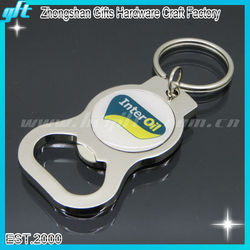 Hot selling blank Silver keychain Beer Bottle opener with custom logo