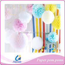 Colorful hanging decoration tissue paper pom poms, Handmade DIY flower balls for event &party (Factory direct sale)