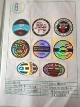 round colorful strong adhesive hat label