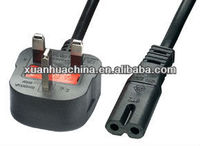 UK power cord with figure 8 plug