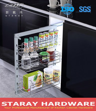 HPJ508B Kitchen Three Tier Side Pull Out Basket