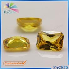 las facetas gemas de piedras preciosas cz pulido creadas en laboratorio de quilates de diamantes