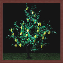 artificial LED mango tree lights as outdoor or indoor decorative fruit christmas tree lighting
